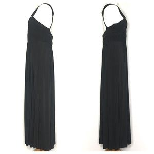 Max & Cleo Dresses - Max & Cleo Black Ruched Formal Gown A200810